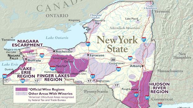 Map Of New York Finger Lakes.Finger Lakes Rising Jul 2016 Vinous Explore All Things Wine