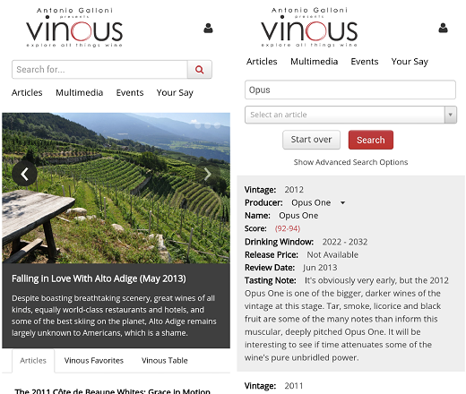 Antonio Galloni Announces Launch of Vinous Mobile Site ...